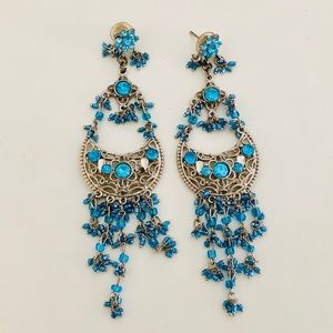 Jewelry - Light Blue Crystal Dangle Earrings